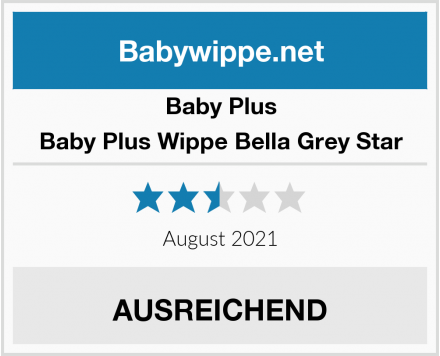 Baby Plus Baby Plus Wippe Bella Grey Star Test
