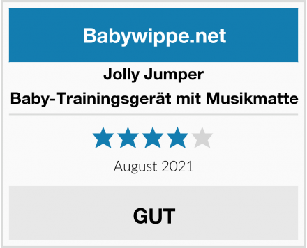Jolly Jumper Baby-Trainingsgerät mit Musikmatte Test